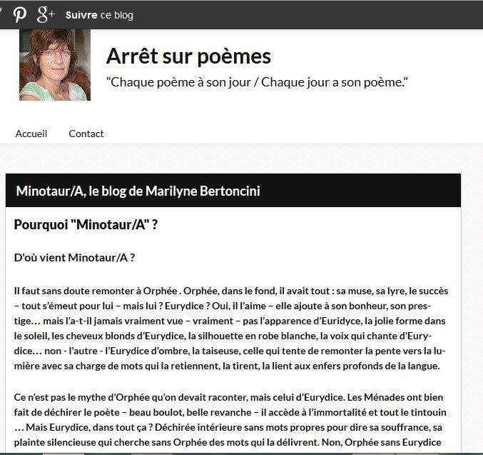 minotaura sur arret sur poeme