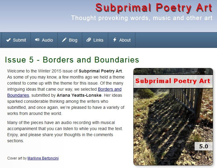 Subprimal Poetry Art-Issue 5 -