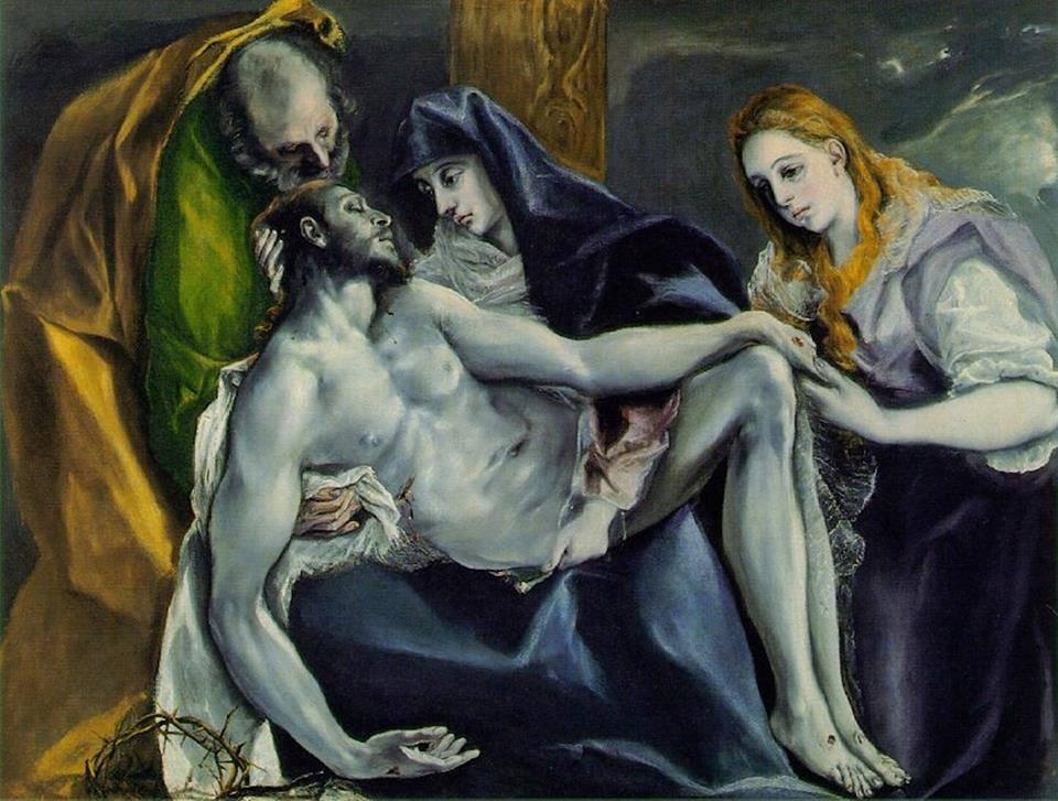 Doménikos Theotokópoulos (El Greco), Pietà, c. 1587-97