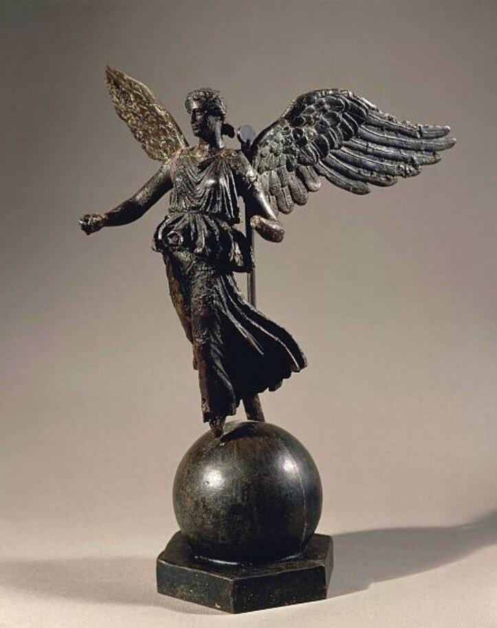 A bronze Roman statue of victory found in Constantine Algeria